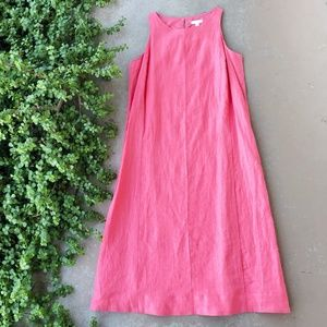 Eileen Fisher Pink Linen Midi Dress